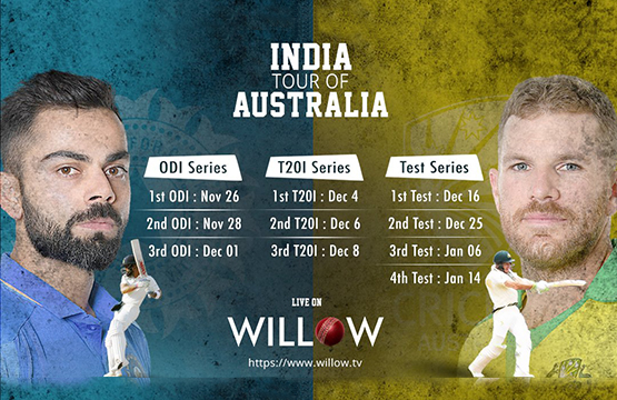 Watch India vs Australia 2020 on Sling's Willow TV
